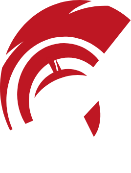 Keepers of the peace k logo with red helmet