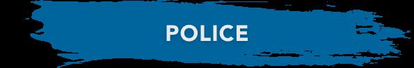 police banner blue