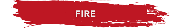 fire banner red